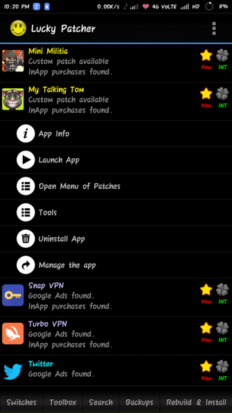 Lucky Patcher Apk Patch Options