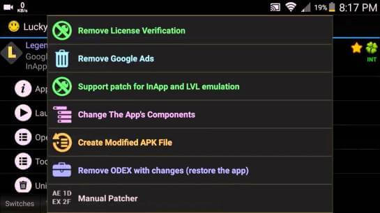 Patch Options