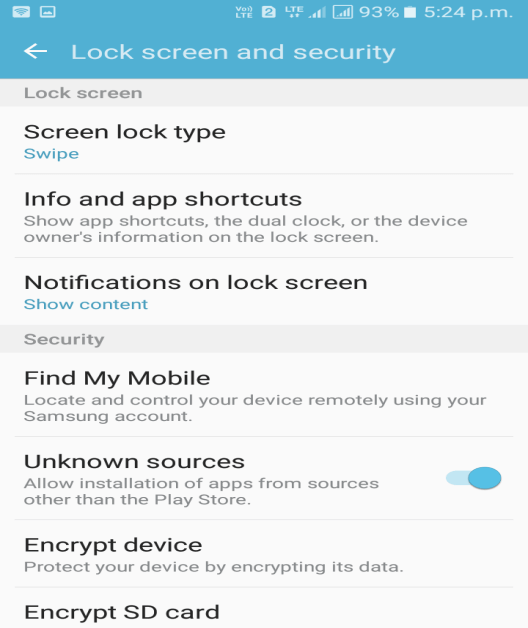 Enable Unknown Sources in Settings