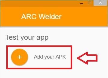 Click Add you APK
